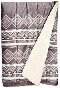Woolrich Anderson Mink Down Alternative Filled Throw Blanket 50x70