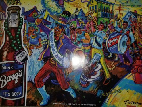 Terrance Osborne Barqs Root beer signed poster 2018 Cheers to 120 years