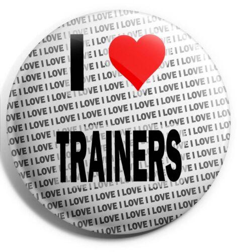 I Love Trainers Badge Magnet Back Stocking Filler Birthday Gift