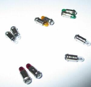 Ampoules-Micro-Ampoules-2-8x4mm-Transparent-Rouge-Jaune-Vert-10-Unites