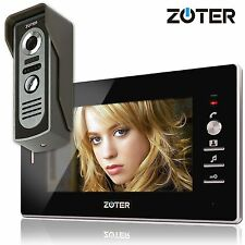 "7"" inch Monitor Video Door Phone Gate Intercom + 600TVL HD Metal Camera System"