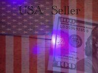 Ten Uv Black Light Led Money Detectors Keychain Usa Seller Fast Free Shipping