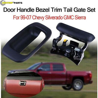 1999-2006 Chevy Silverado GMC Sierra Tailgate Tail Gate Handle /& Bezel NEW
