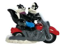 Westland Pepe Le Pew Motorcycle Looney Tunes Ceramic Salt And Pepper Shakers