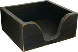 Rustic-Country-Distressed-Black-Wood-Napkin-Holder