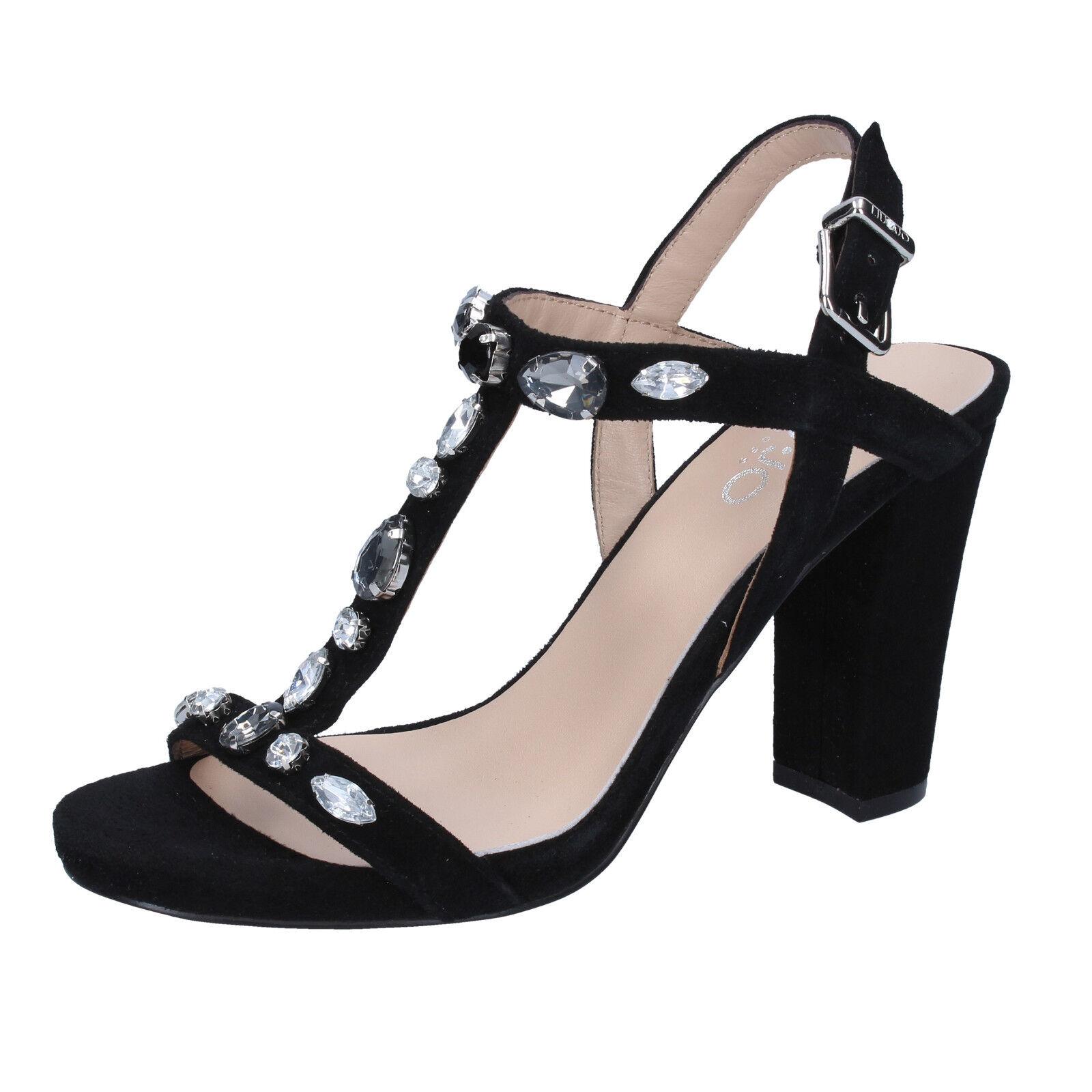 EU  donna LIU JO 35 EU  sandali nero camoscio BZ119-B 57e900