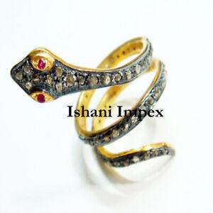 Natural Rose Cut Diamond Band Ring 925 Sterling Silver Ring Handmade Ring