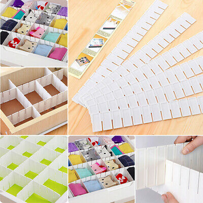 6Pcs Adjustable Clapboard Drawer Divider Partition Storage Organiser Wardrobe