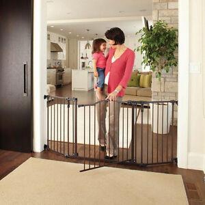 Walk Thru Baby Gate Door Tall Wide Infant Child Pet Safety Security