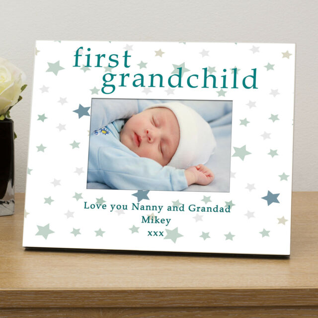 First Grandchild Wooden Photo Frame 6x4 -personalised Baby ...