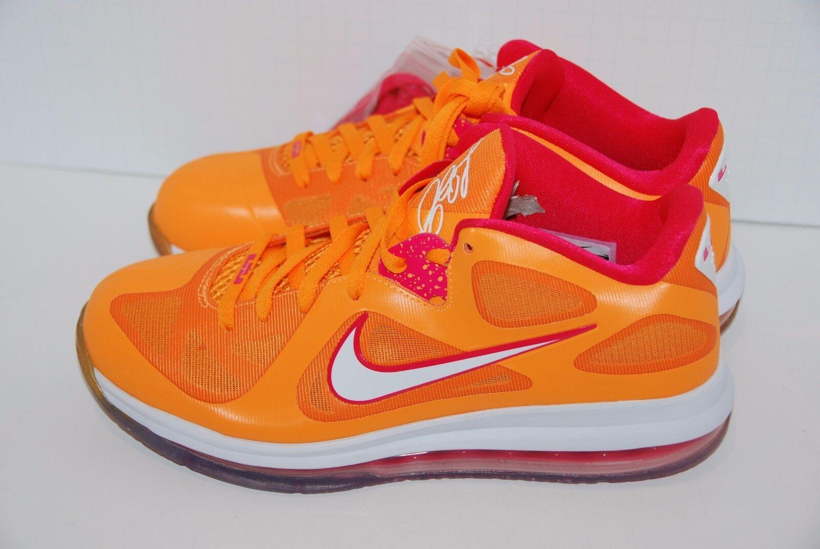 Nike Air Max LEBRON IX 9 Low FLORIDIAN ORANGE CHERRY PINK WHITE 510811-800 9 US
