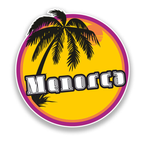 2 x Menorca Sunset Vinyl Sticker Travel Luggage Beach #7122