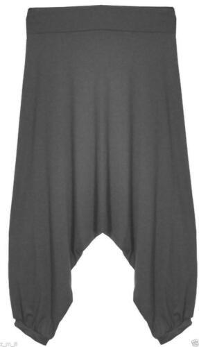 Ladies Womens Crop Drop Crotch Harem Lagenlook Baggy Alibaba Pants Trousers