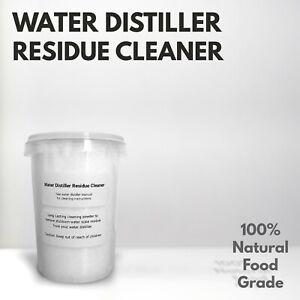 Water Distiller Residue Cleaner Purifier for ALL Water Distillers - 350g Net UK