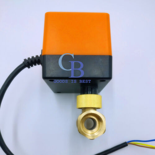"""AC 220V G3//4/"""" DN20 Brass 2 Way Motorized Ball Valve Electrical Valve"""