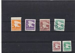 UNITED STATES  DOMESTIC MAIL SET STAMPS LABELS. REF 1841