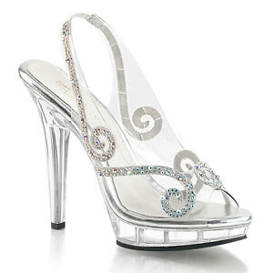 Nice Image Is Loading Clear Cinderella Glass Slippers Princess Theme Wedding  Shoes