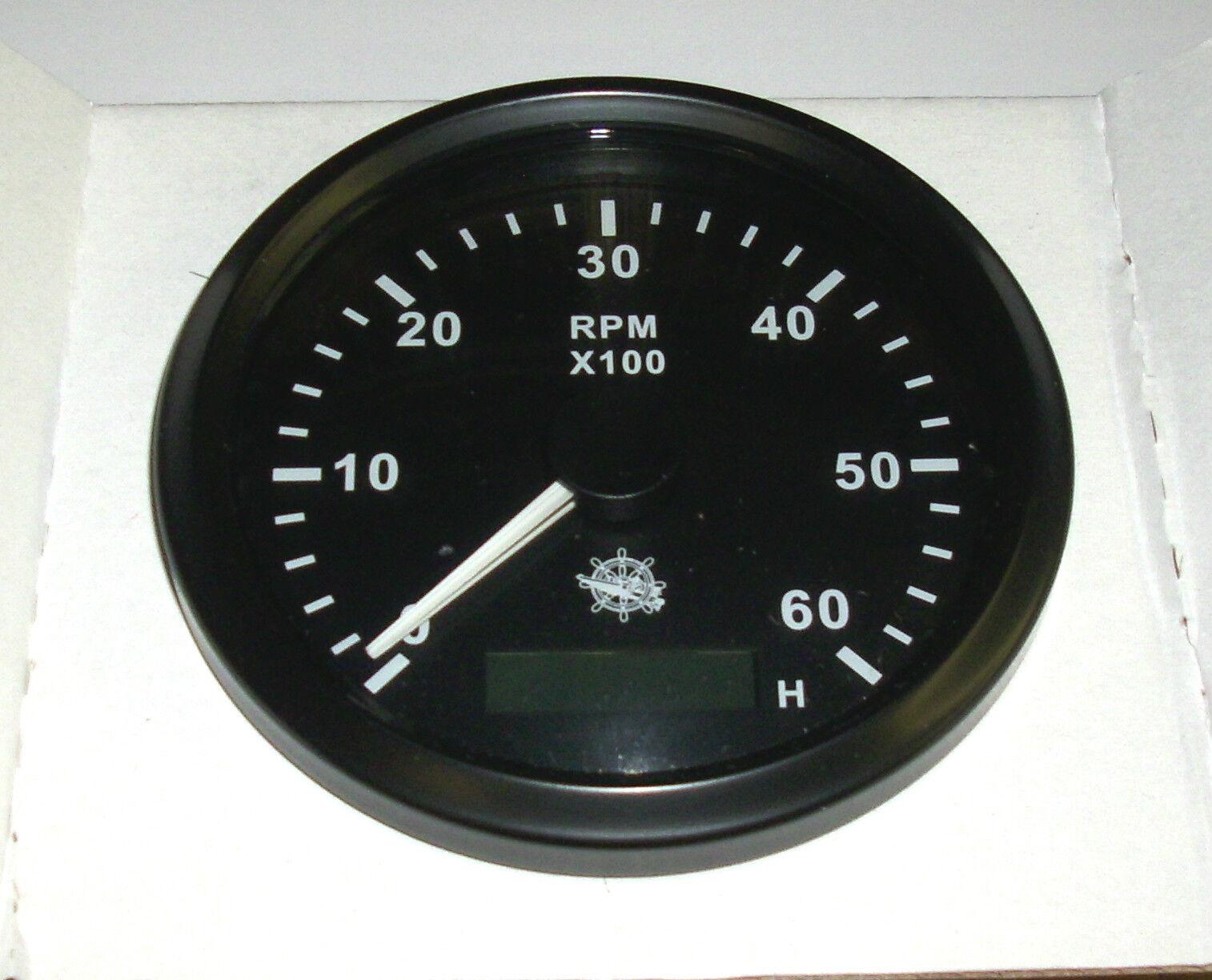 Drehzahlmesser 85 mm  Diesel/ Benzin 0-6000 RMP Schwarz Blende Schwarz Schwarz Blende 27.325.03 73f45a