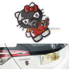(1) JDM Japanese Style Drift Funny Hello Kitty Sticker Decal For Car SUV Truck