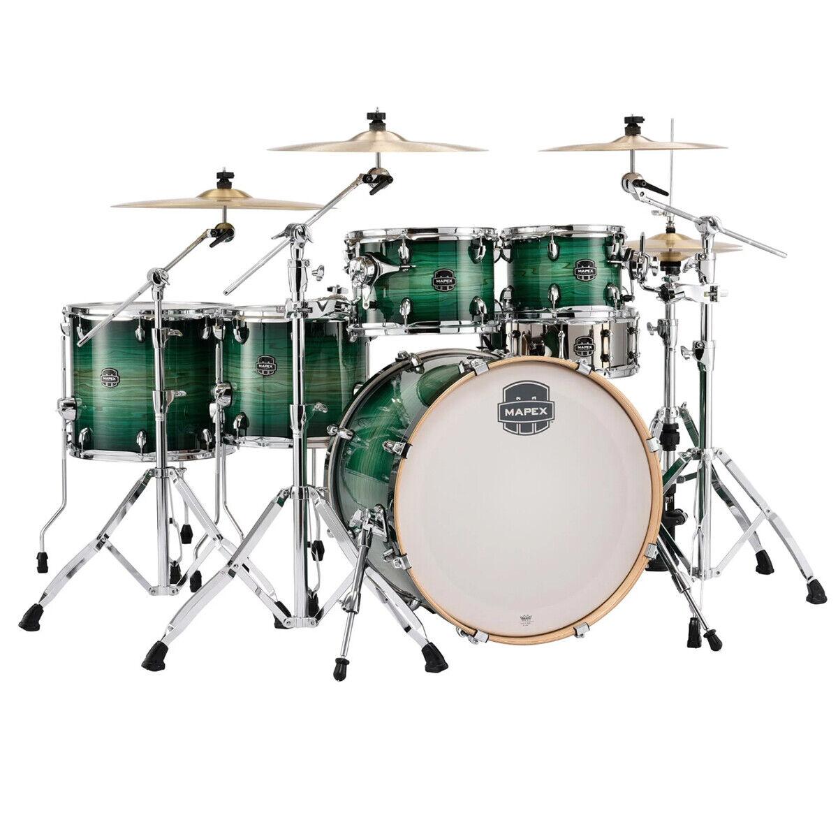 Mapex AR628SFU-FG Armory Rock Fusion Drum Kit Shell Pack, Emerald Burst