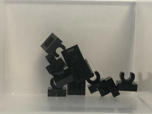 QTY 10 LEGO Parts Black Tile 1 x 1 w Clip No 15712