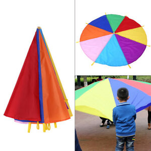 Paraguas-Arco-Iris-Ninos-graciosos-paracaidas-al-aire-libre-Deporte-Ejercicio-grupo-Juego-Juguete-Hp