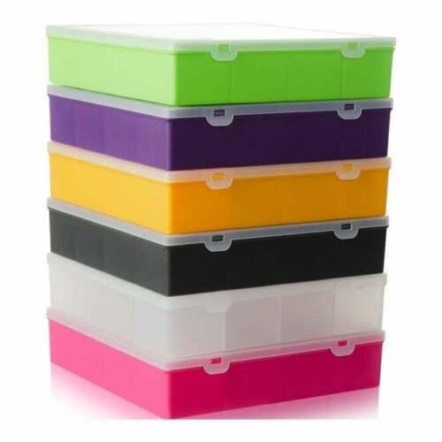 13 COMPARTMENT ORGANISER STORAGE PLASTIC BOX SCHOOL CRAFT ART CASE LARGE 29CM