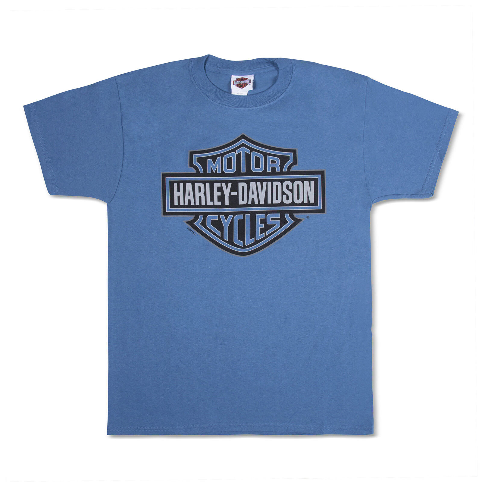 Harley-Davidson T-Shirt Biker Short Sleeve Tel-Aviv Israel bluee Jerusalem Photo