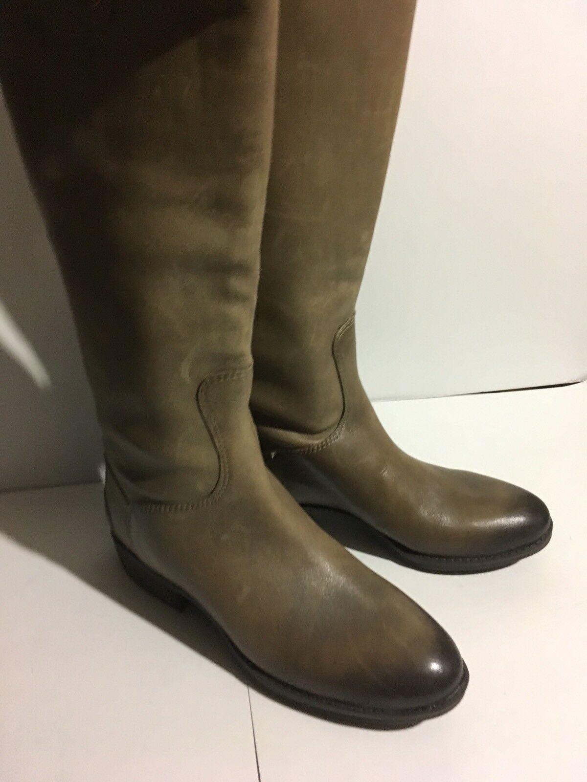 Sam Edelman Penny läder Knee höga stövlar kvinnor Storlek 4 M Olive