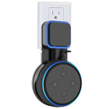 2pcs Black Outlet Wall Mount 3rd Generation Holder Bracket for Amazon Echo Dot
