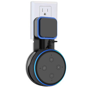 Black-Outlet-Wall-Mount-For-Amazon-Echo-Dot-3rd-Generation-Holder-Bracket
