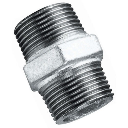 """Galvanised Malleable Iron Equal Sockets Water /& Air 1//4/"""" to 4/"""" BSP Steam Gas"""
