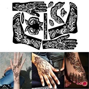 Temporary Tattoo Stencils India Henna Sticker Arm Body Art Decal Beauty Sexy Diy Ebay