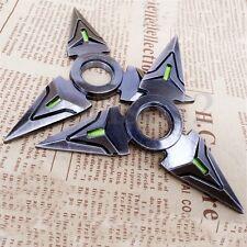 2X/Set Hand Spinner EDC Metal Bearing Fidget Toy Genji Shuriken Ninja Toys Black
