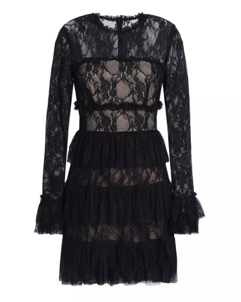 Bailey 44 Tiered Ruffle Lace Dress  Size 10