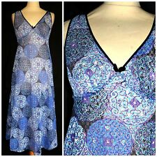 VINTAGE 1960S PSYCHEDELIC NYLON NIGHTDRESS 12  NIGHTIE