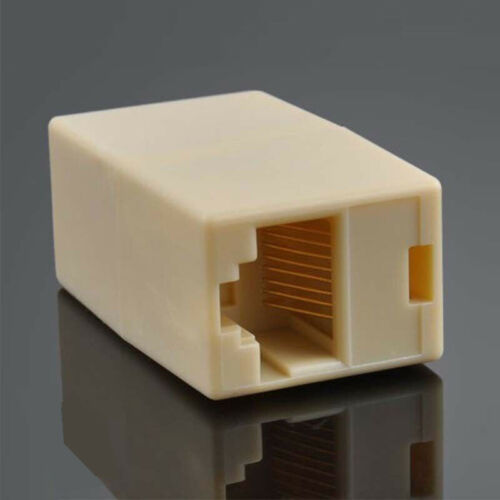 10X CAT6 RJ45 modular female//female Couplers 8P8C Network Cable Connector Joiner