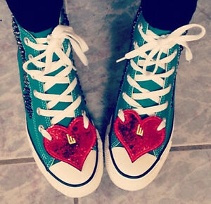c77f8c11e4 SHWINGS Red Sparkle Heart wings for shoes official designer Shwings ...