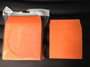 100 orange cd dvd blu ray video game paper sleeve envelope for 100 paper cd sleeves with window flap