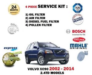 FOR VOLVO XC60 2.4 D5 185bhp 2008-/> OIL AIR FUEL POLLEN FILTER SERVICE KIT OE
