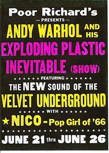 VELVET UNDERGROUND POSTER Lou Reed, Nico, Andy Warhol | eBay