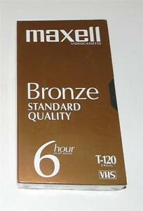 1-NEW-SEALED-MAXELL-BRONZE-T-120-BLANK-6-HR-STANDARD-QUALITY-VHS-CASSETTE-TAPE