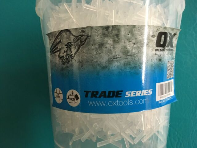 Pack of 250 OX Tools OX-T161310 OX Trade 1//16 Hard Plastic Spacers T