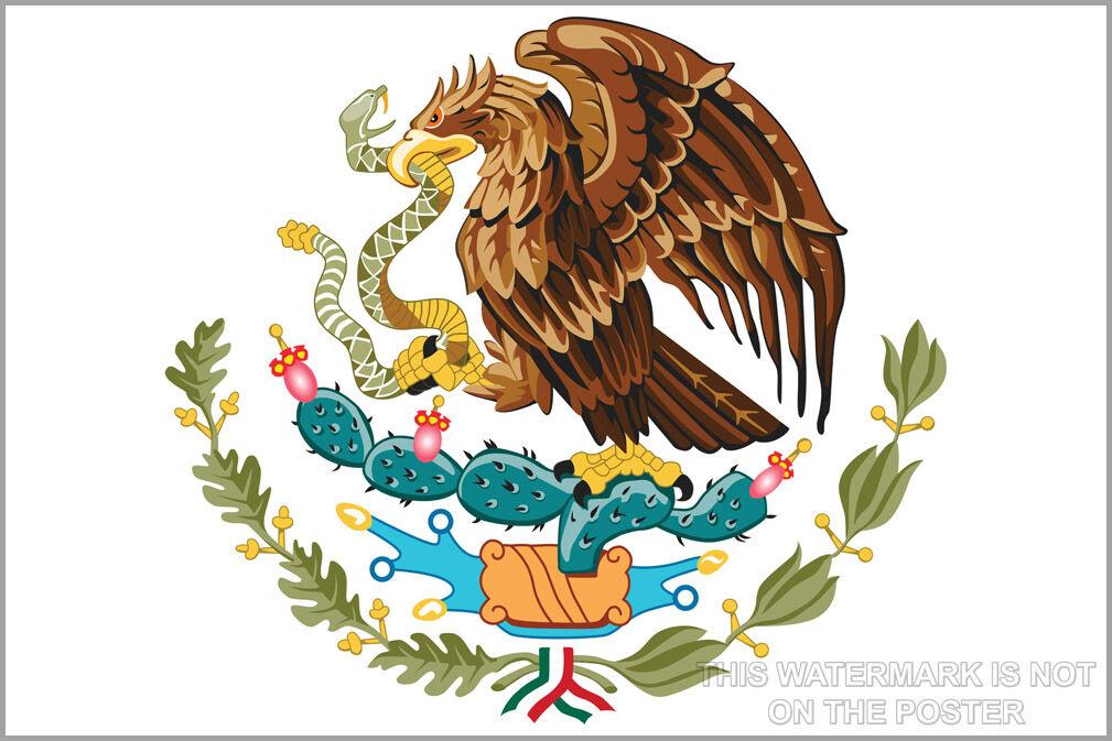 Plakat, Viele Größen; Wappen Of Mexico, From Azteken