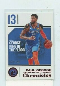 PAUL-GEORGE-2018-19-Panini-Chronicles-Red-Parallel-D-149