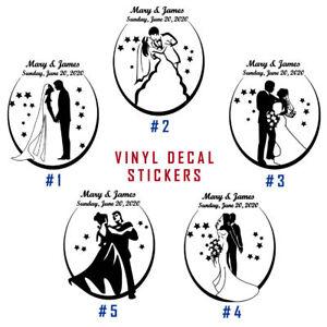 935e90eff2d Image is loading Happy-Wedding-Vinyl-Decal-Sticker-Decor-Frame-Custom-