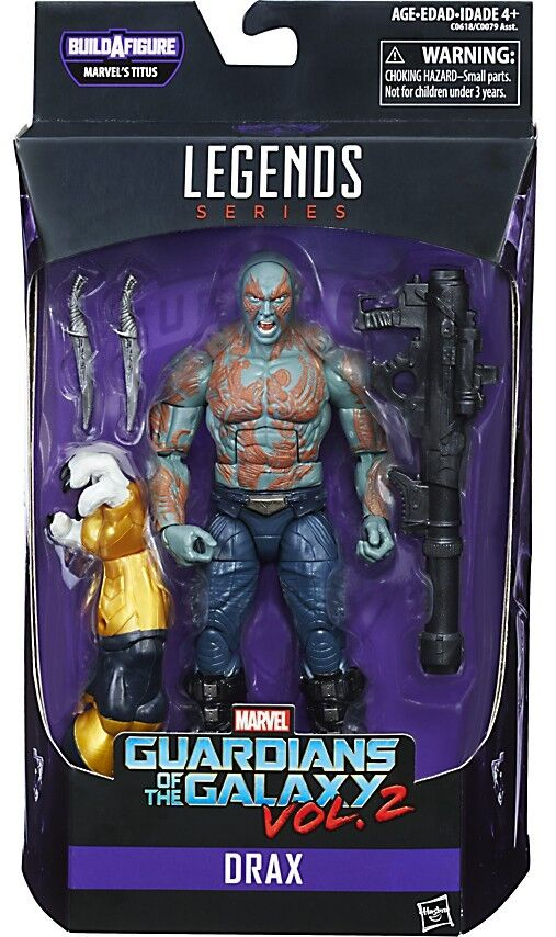 Guardians of the Galaxy Vol. 2 Marvel Legends Titus Series Drax Action Figure