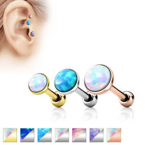 Cartilage-Barbell-Forward-Helix-Tragus-Opal-Triple-16g-Surgical-Steel-3-4-5mm
