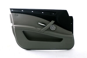 BMW-5-Series-E60-E61-LCI-Front-Left-Door-N-S-Card-Trim-Panel-Grey-Cloth