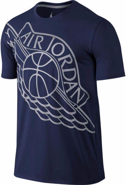 ae225cc05f1f07 Air Jordan Wingspan Tee 748550-410 Men T-shirt Dark Blue Grey ...